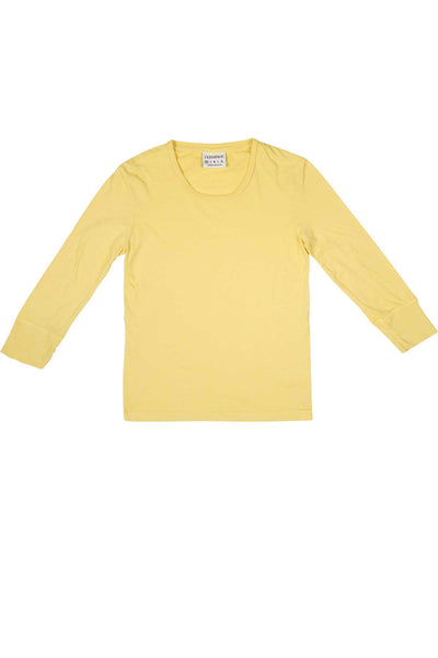Rxmance Sunny Yellow 3/4 Sleeve Lounge Tee - CheapUndies.com