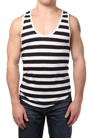 Y.M.L.A Black & White Tank Top