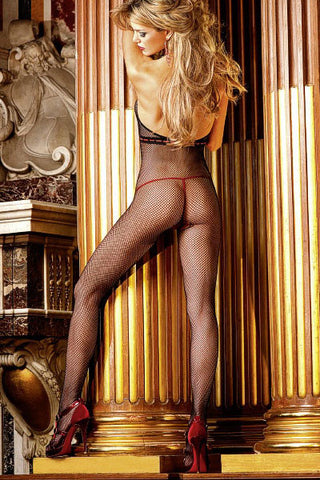 Baci Black Fishnet Body stocking