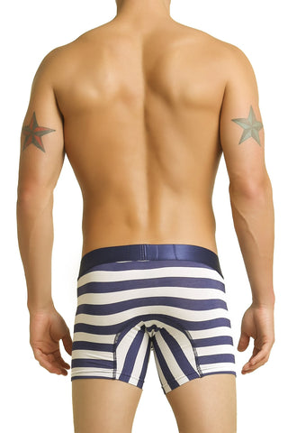Mosmann Blue & Grey Stripe Boxer