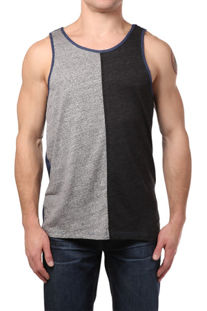 Black Hearts Brigade Heather Grey Color-Blocked Tank Top