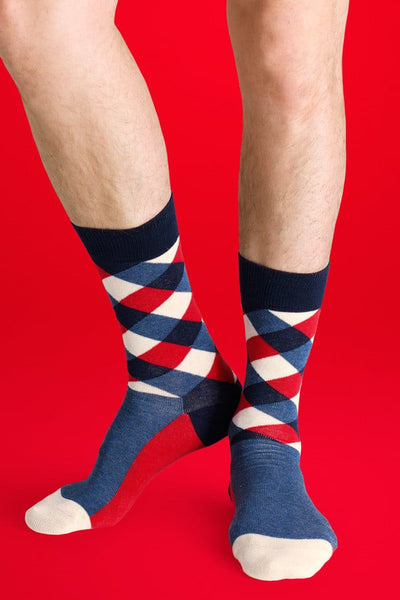Happy Socks Patriot Diamond Socks