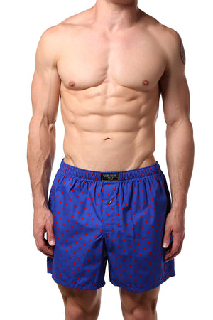 Polo Ralph Lauren Blue/Red Polka Dot Classic-Fit Woven Boxer Short