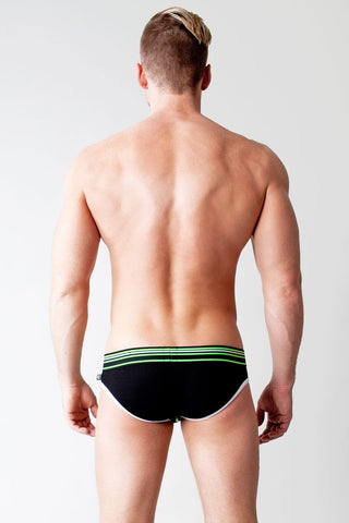 Black Proton Glow Super Low Brief