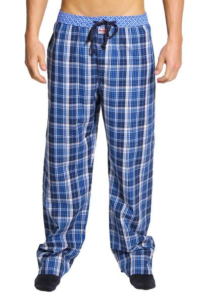 English Laundry Blue Plaid Drawsting Pant - CheapUndies.com