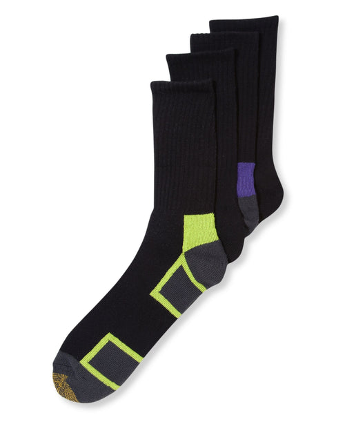 Gold Toe Socks Athletic Cushion Crew 4 Pack 10-13 - CheapUndies.com