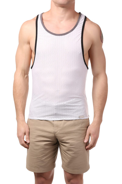 Gigo White Fresh Tank Top - CheapUndies.com