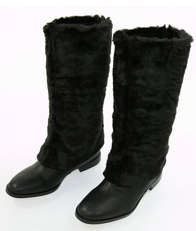 Victoria's Secret Black Boot With Fur Overlay - CheapUndies.com