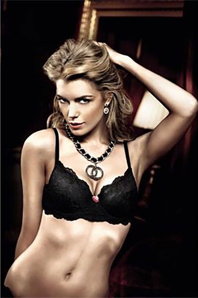 Baci Black Lace Maximum Cleavage Bra with Underwire