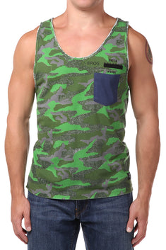 Datch Green Camo Tank Top
