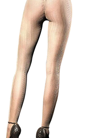Baci Beige Perforated Pantyhose