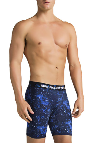 Balanced Tech Blue Cosmos Performance Boxer Brief