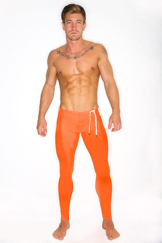 CheapUndies Orange Running Tights