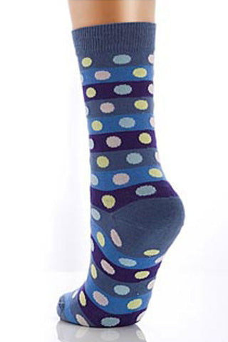 Lucci Blue Points Crew Sock