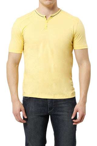 C-IN2 Hopeful Yellow Pop Short Sleeve Henley