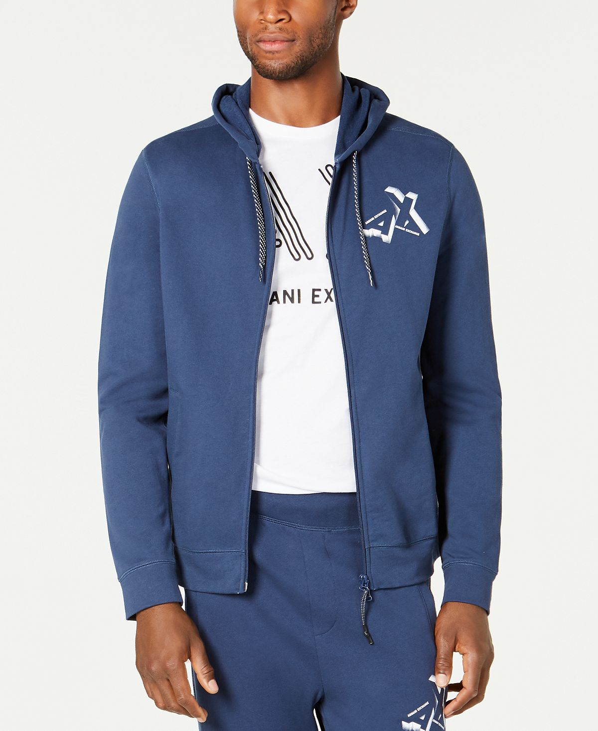 A|x Armani Exchange | Zip Front Logo Hoodie Assorted