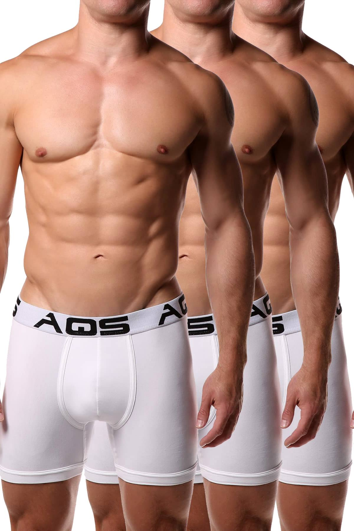 AQS White Boxer Brief 3-Pack
