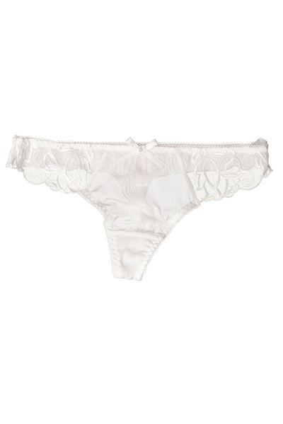 Affinitas White Mesh/Lace Thong - CheapUndies.com