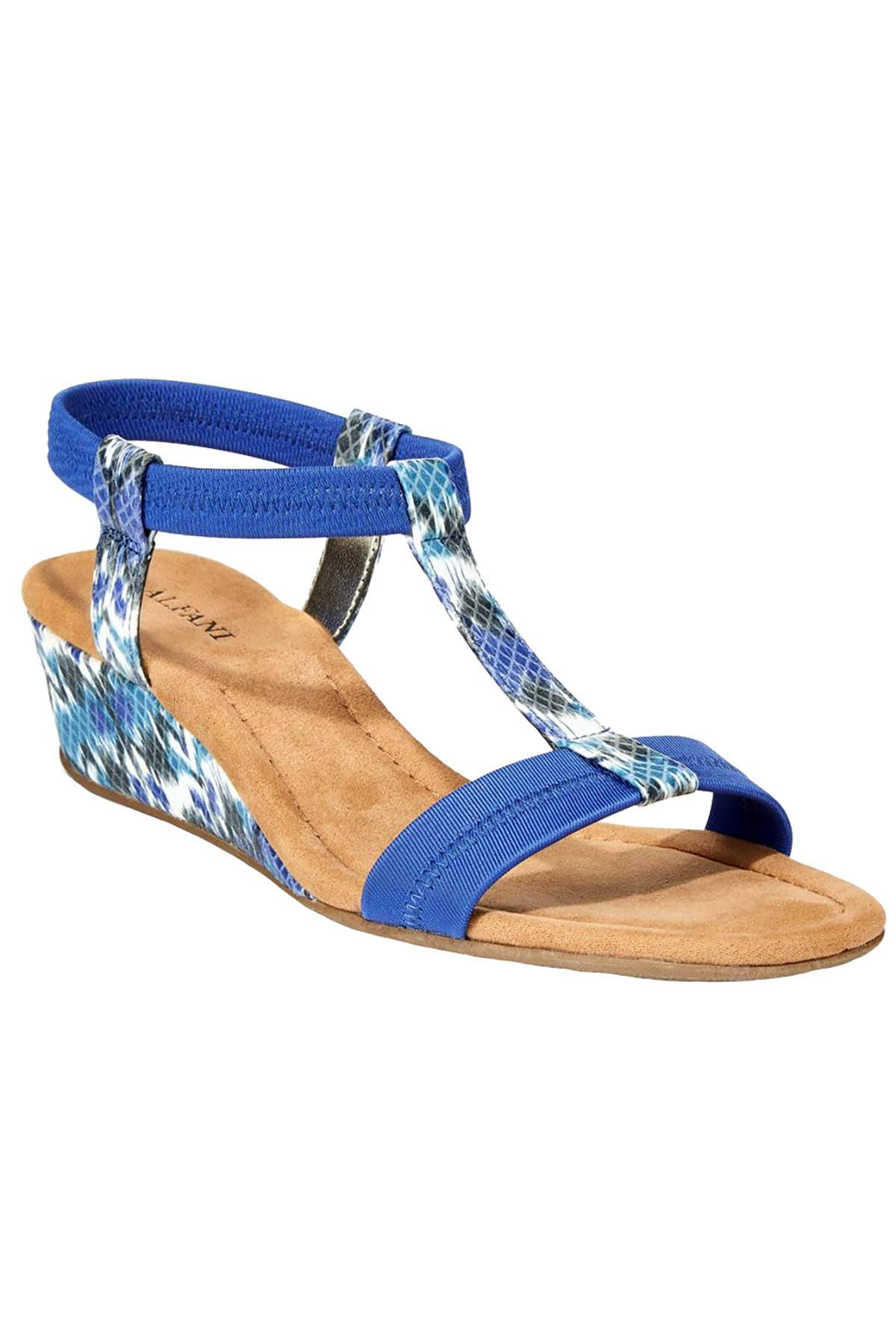 Alfani Blue-Ikat Step 'N Flex Voyage Wedge Sandals