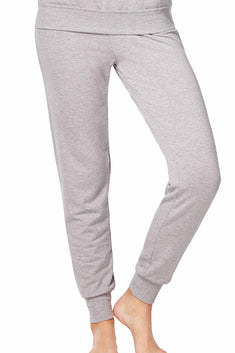 Alfani Intimates Heather-Grey Ribbed-Cuff Jogger Pajama Pant