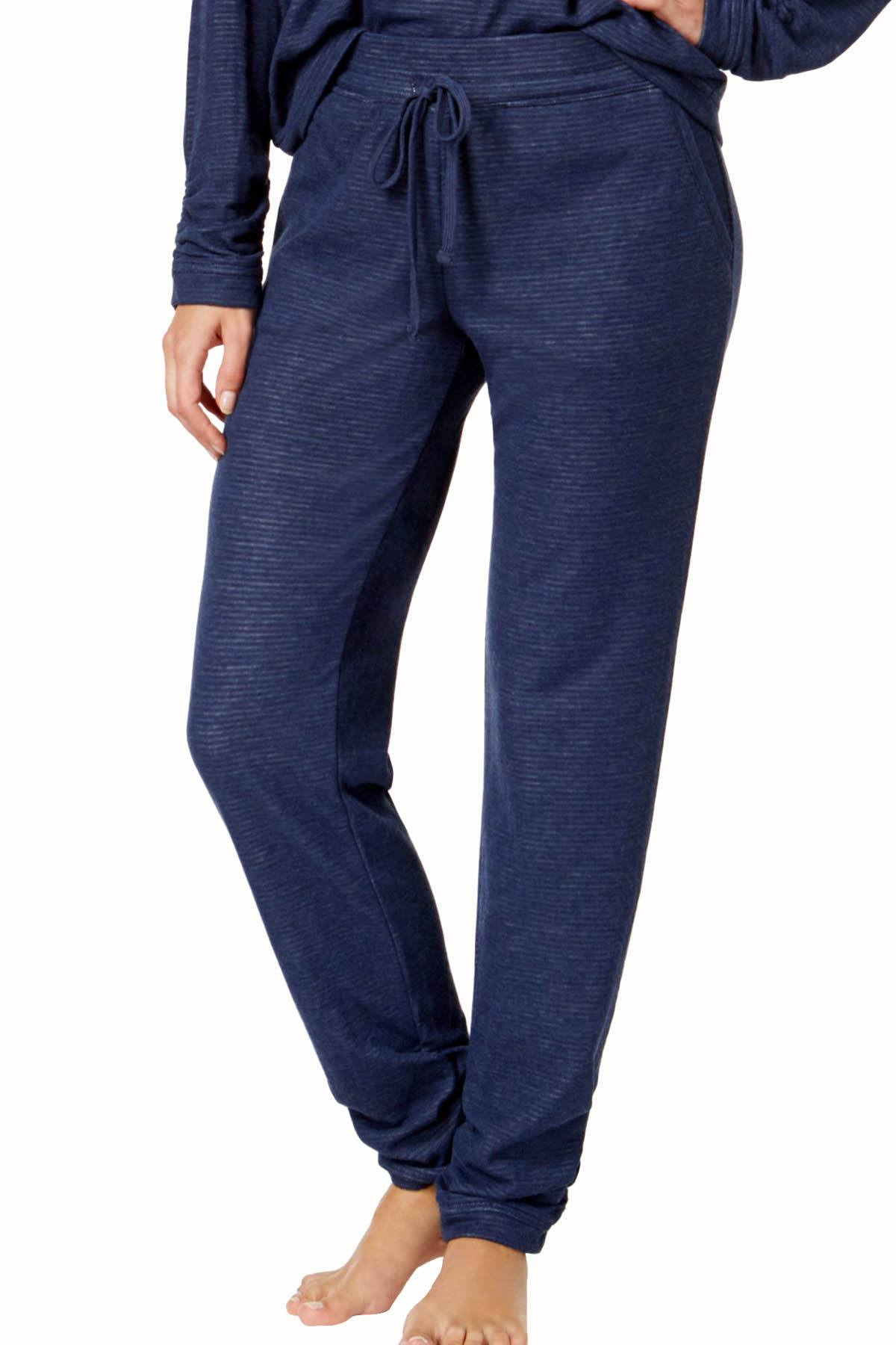 Alfani Intimates Navy Double-Knit Jogger PJ Pant