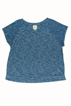 Alfani Intimates Teal SpaceDye Raglan-Sleeve Lounge Tee