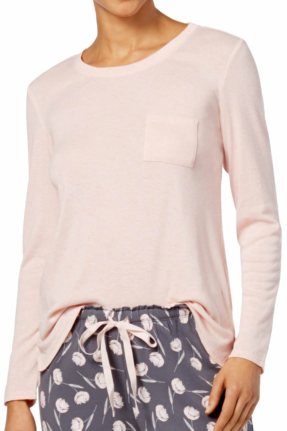 Alfani Long Sleeve Scoop Neck Top in Soft Shell Pink