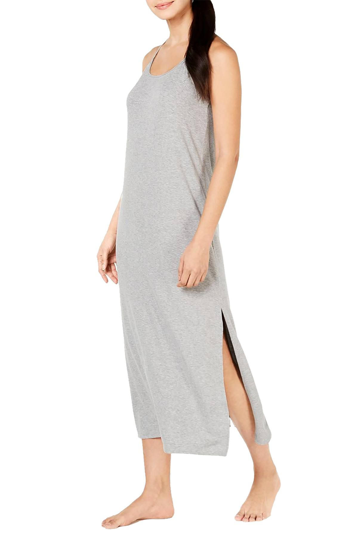 Alfani Ribbed Nightgown in Heather Grey