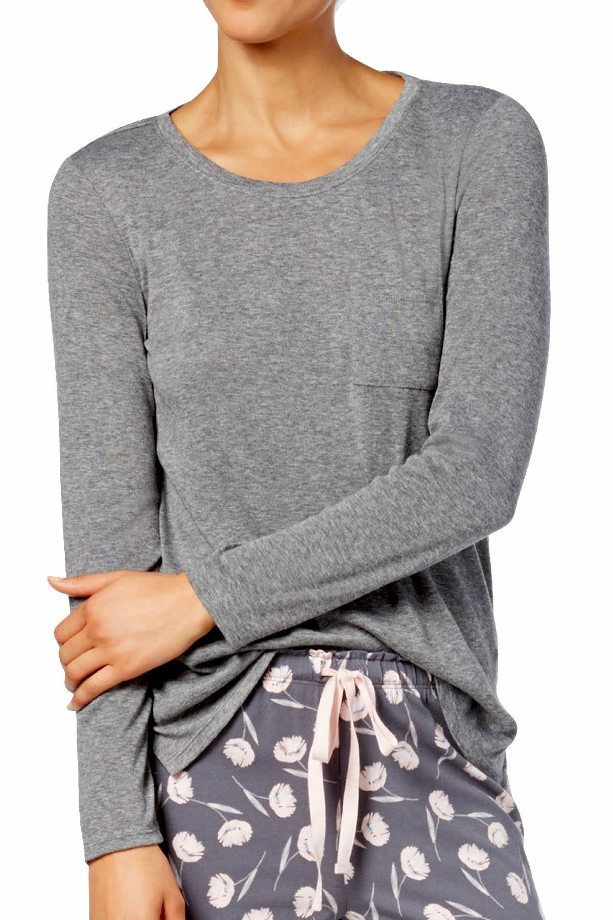 Alfani Scoop Neck Lounge Top in Urban Grey