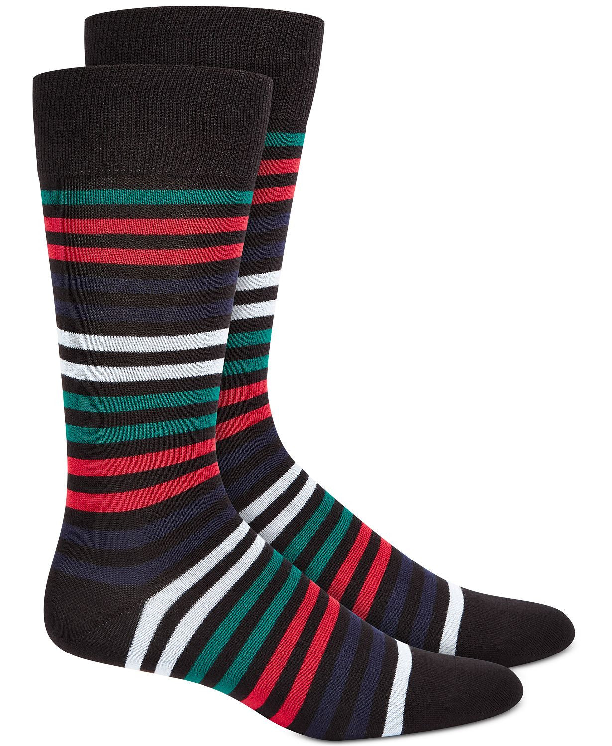 Alfatech By Alfani Striped Dress Socks Red