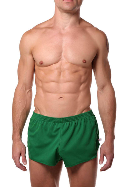 American Jock Green Running Short - CheapUndies.com