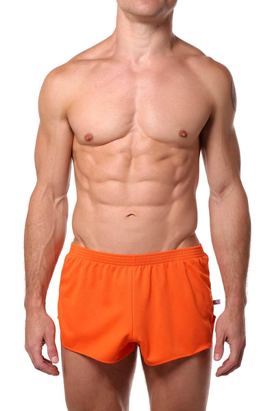 American Jock Orange Running Short - CheapUndies.com