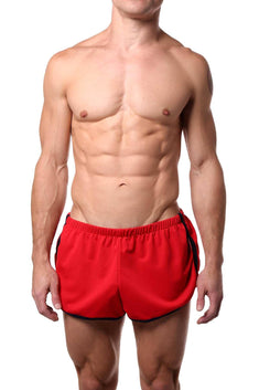 American Jock Red/Navy Aktivo Extreme Running Short