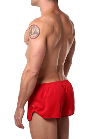 American Jock Red Running Short