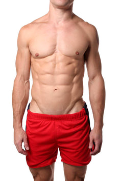 American Jock Red Spring Running Short w Built-in Jock