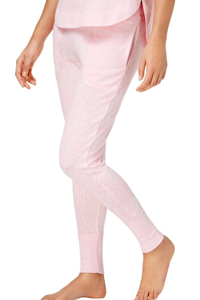 Ande Charm-Pink Whisperluxe Ribbed-Trim Jogger - CheapUndies.com