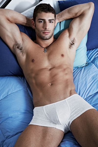 Andres Velasco White Renaissance Trunk - CheapUndies.com