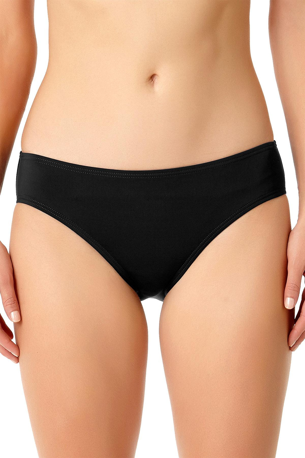 Anne Cole Black 'Live in Color' Retro Bikini Bottoms