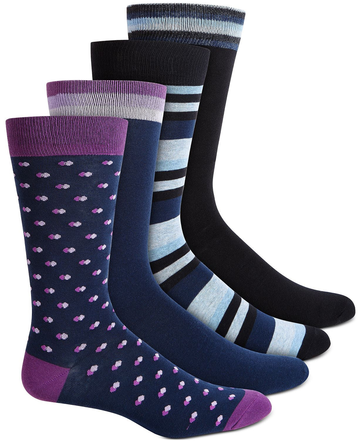 BAR III 4 Pack Socks Navy Purple