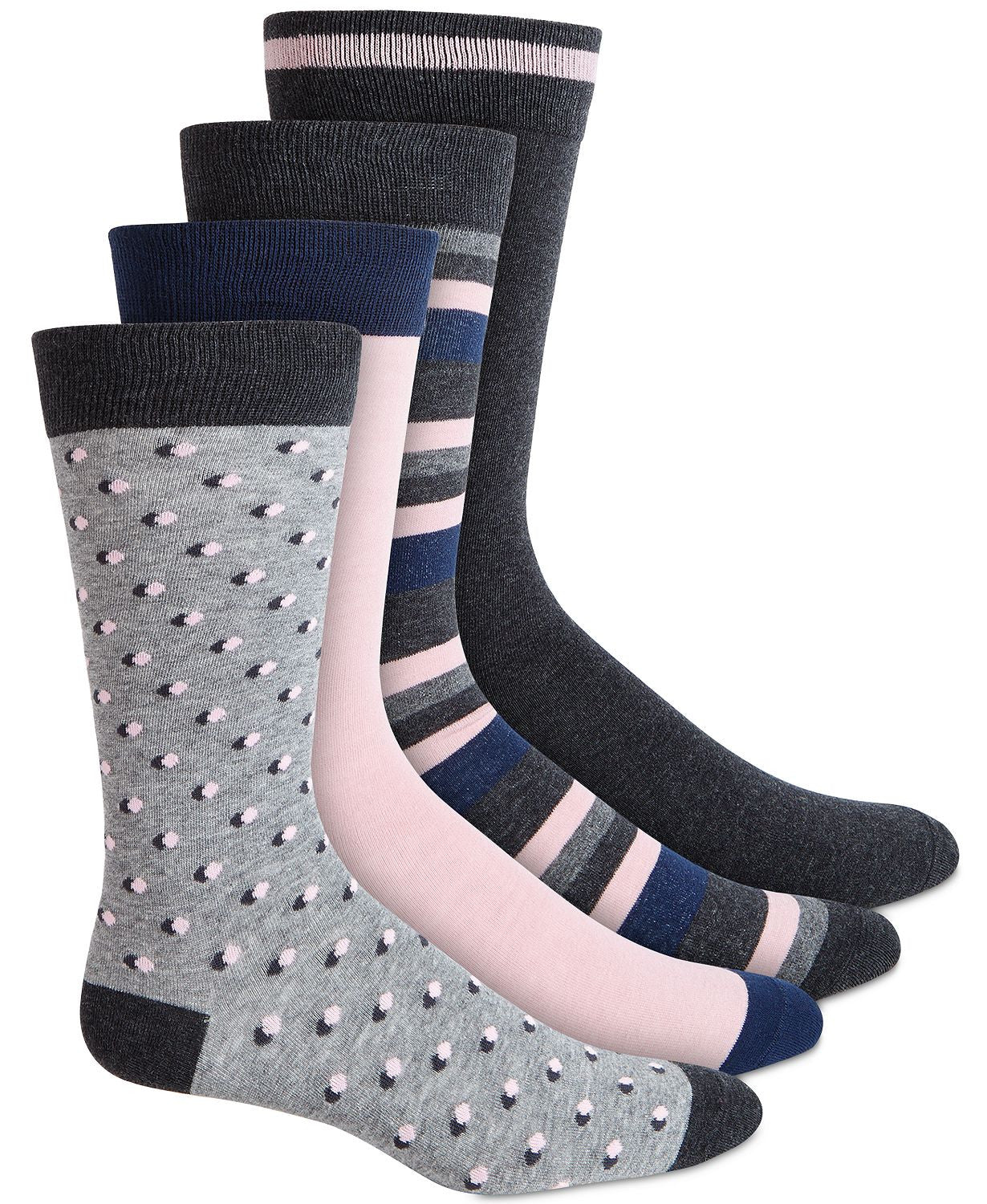 BAR III 4 pk Socks Grey Pink