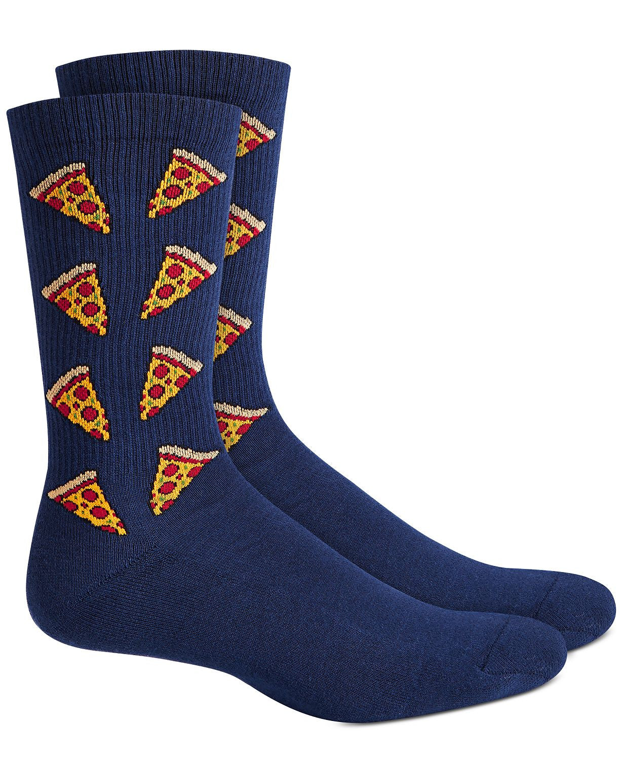 BAR III Pizza Socks Navy