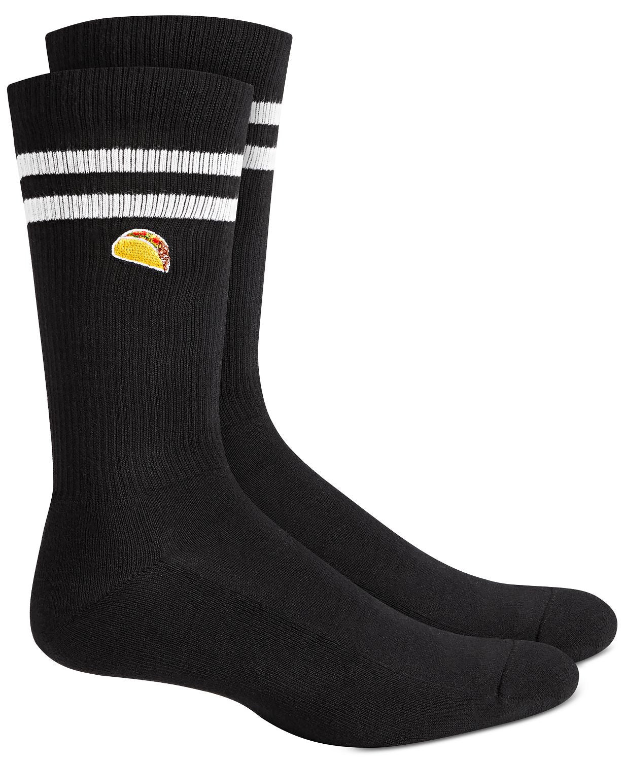 BAR III Taco Socks  Black White