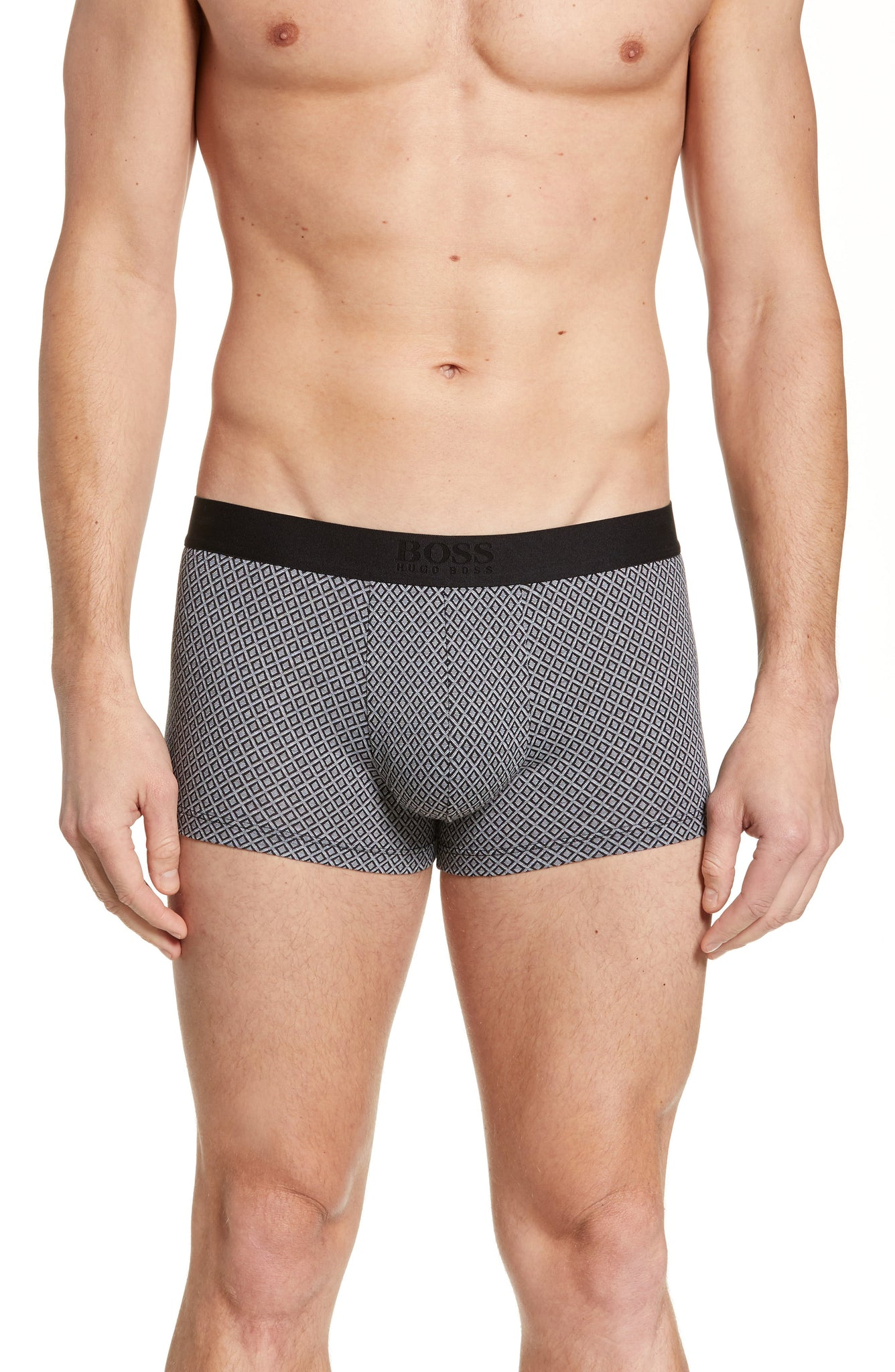 BOSS Men's Boss Jacquard Trunks Grey