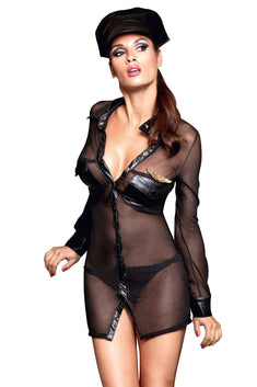 Baci 3pc Black Airlines Pilot Dress-Up Lingerie Costume