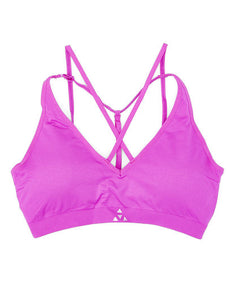 Balanced Tech Fuchsia Cross Front Seamless Bra