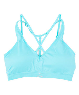 Balanced Tech Mint Cross Front Seamless Bra
