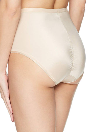 Bali Champagne-Shimmer Sheer/Sleek-Desire Light-Control Shaping Brief