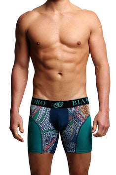 Bamboo Green & Dark Blue Boxer