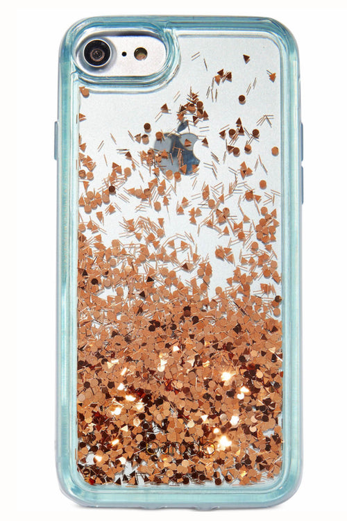 Ban.do Blue & Rose-Gold Glitter Bomb iPhone Case - CheapUndies.com