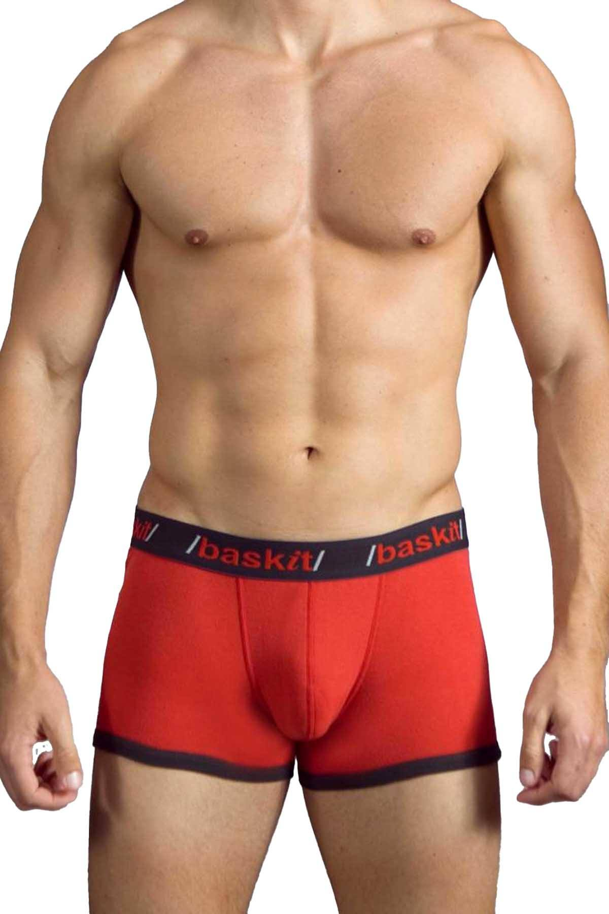 Baskit Chinese Red/Black Contrast Low-Rise Trunk